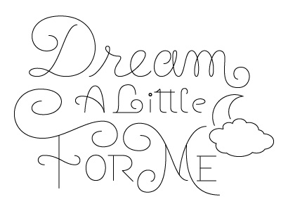 Dream wip type lettering