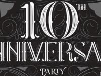 10th Anniversary Inviation