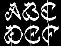 8 Bit Calligraphy
