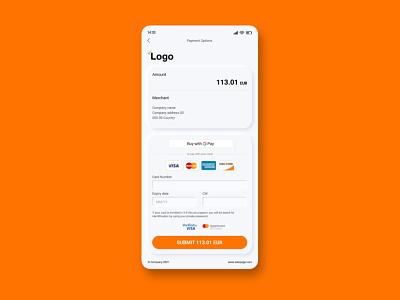 Credit Card Checkout checkout design 002