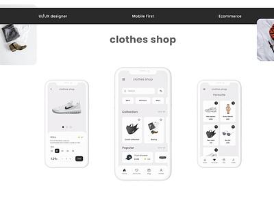 Ecommerce, Clothes shop app clothes shop ui ux mobile online shop shop clothes uiux ecommerce
