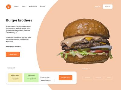 Burger. delivery uiux uxui burger food website webdesign web ux ui