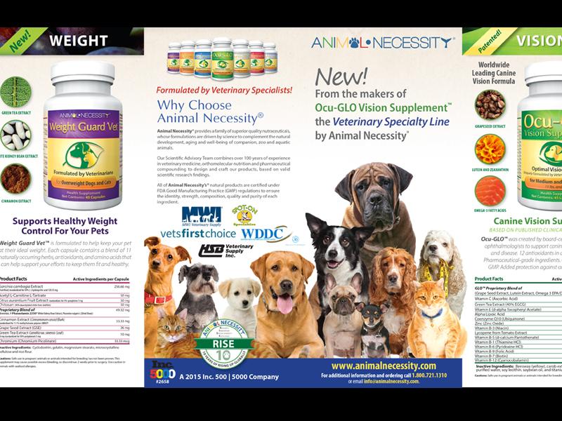 Animal Supplement Brochure gatefold brochure brochure design print design animal pet pets