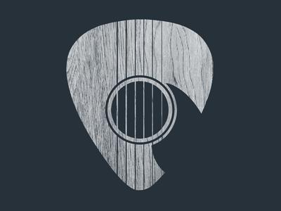 Strum... gig wood logo simple acoustic artist minimalism musician band guitar instrument music