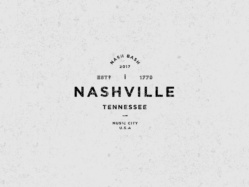 Nashville grunge nashville badge type treatment logo typography