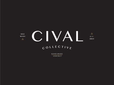 CIVAL Collective typography badge logo brand identity logo
