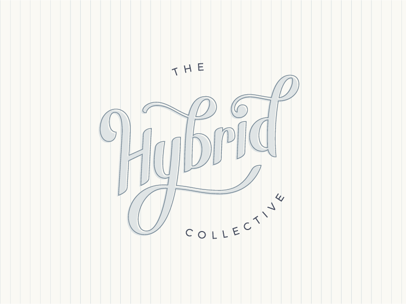 The Hybrid Collective hand lettering lettering conference photography logo