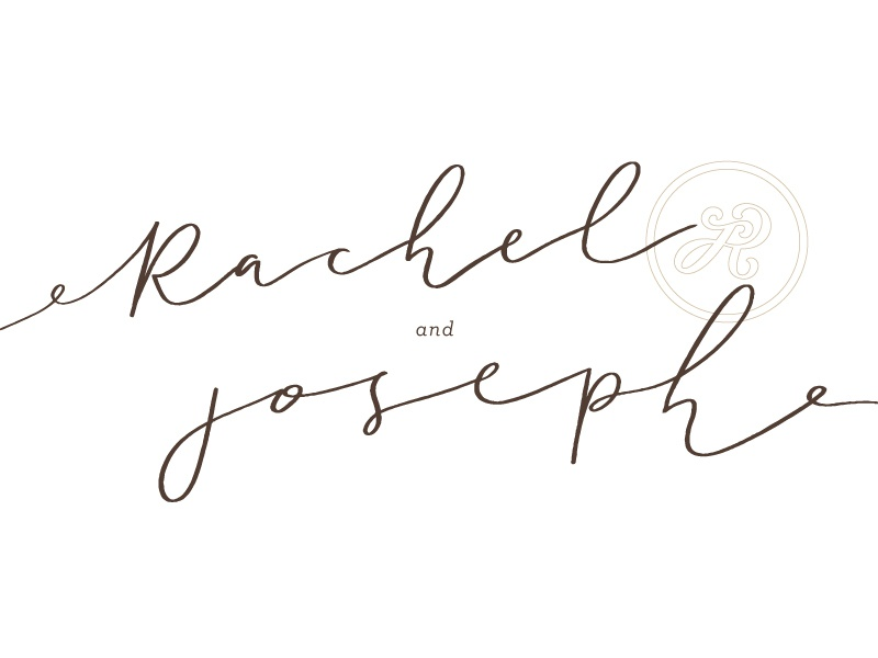 Rachel & Joseph monogram invitation wedding invitation wedding script hand lettering