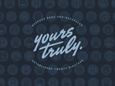 Yours Truly bags custom motion after effects 2d animation branding