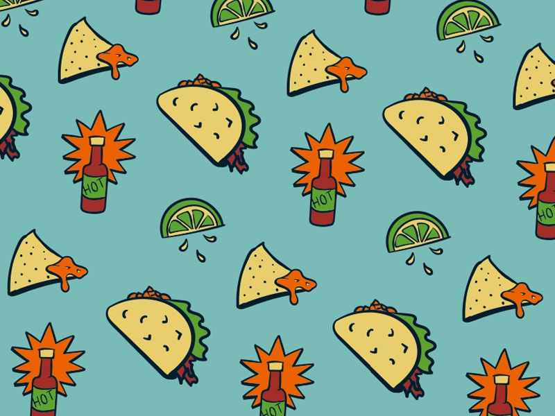 HOT apparel repeat fun mexican lime sauce hot taco hollister underwear boxers illustration