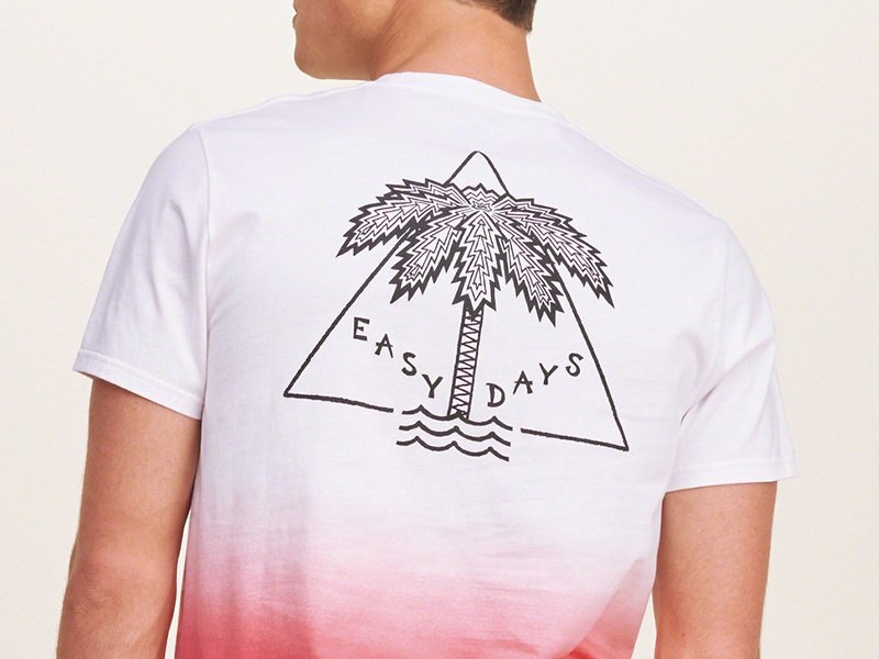 Easy Days palm psychadellic apparel hollister illustration days easy