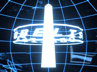 O for OBELISK hologram retro scifi grid after effects cinema4d c4d animation motion logo alphabet