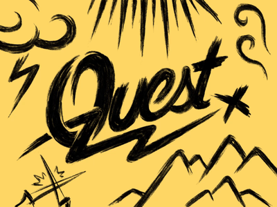 Quest script handlettering after effects animation alphabet motion logo