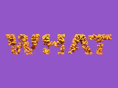 WHAT. type question mark question cinema4d c4d animation alphabet motion logo