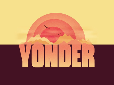 YONDER yonder birds sunset after effects animation alphabet motion logo