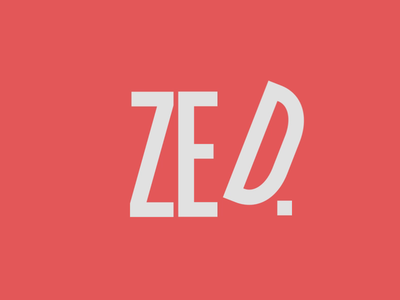 ZED typogaphy type in motion after effects animation alphabet motion logo zed