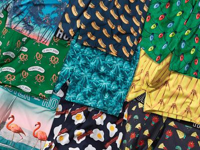 Hollister Underwear - Pattern undies boxers photomanipulation illustration quirky textile pattern apparel graphics fun underwear hollister apparel