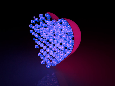 The Intersection of Life and Technology heart after effects octanerender render motion cinema4d c4d