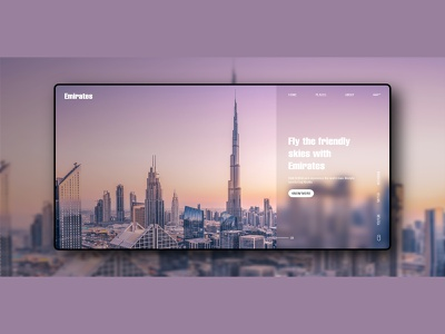 UI Design for Travel Website minimal ui design website design uidesign