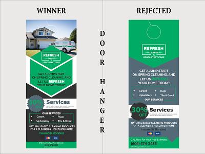 Door Hanger Design graphic  design eye catching branding minimal design