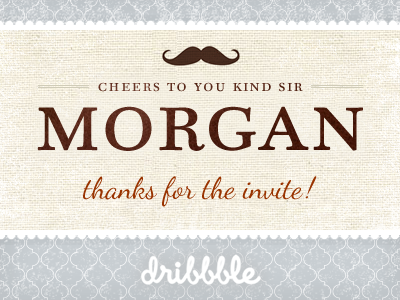Thanks for the invite Morgan Knutson :) thanks mustache