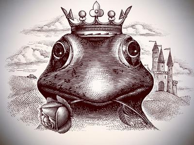 The Fog Prince artwork pen and ink line art illustration woodcut etching logo scratchboard engraving