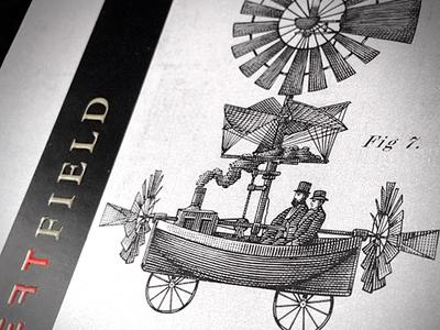 Left Field Wines line art etching illustration scratchboard woodcut steven noble