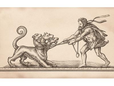 Pillars of Hercules scratchboard woodcut engraving etching illustrator illustration steven noble woodcut scratchboard