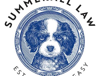 Summerall Law Logo artwork logo etching line art illustration woodcut scratchboard steven noble