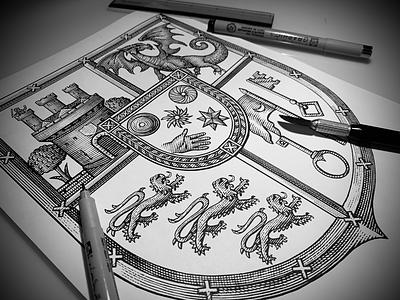 Scratchboard Woodcut Illustration by Steven Noble ink art line work linocut pen and ink line art etching scratchboard illustration woodcut illustrator steven noble
