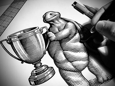 Scratchboard Woodcut Illustration by Steven Noble line art artwork linocut illustrator illustration scratchboard woodcut steven noble