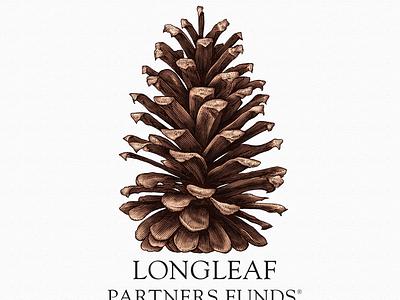 Longleaf Partners logo scratchboard etching ink art pen and ink line art woodcut illustration steven noble