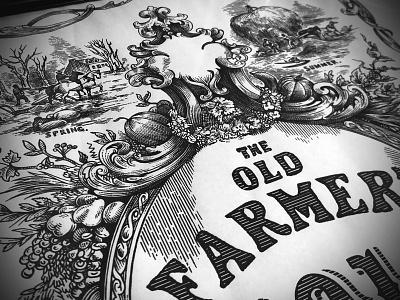 Old Farmers Almanac Illustration graphic design design pen and ink woodcut branding artwork engraving illustration line art steven noble