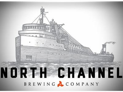 North Channel Brewery Logo line art engraving pen and ink woodcut woodcuts etching design linocut scratchboard steven noble