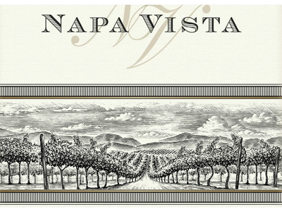 Napa Vista Wine design artwork logo woodcuts etching illustrator woodcut linocut scratchboard steven noble