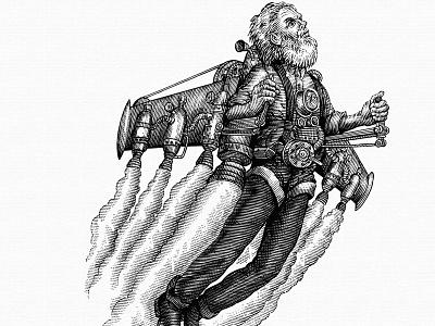 Daredevil ink art logo linocut pen and ink scratchboard illustrator engraving illustration line art steven noble