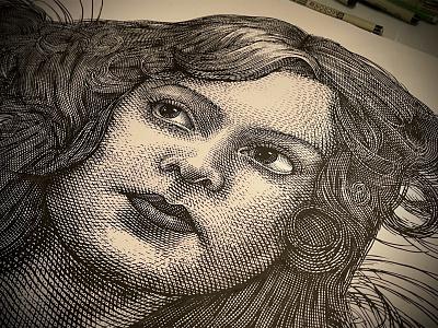 Portrait Illustrations Etched by Steven Noble portrait logo artwork illustration design engraving etching scratchboard line art steven noble