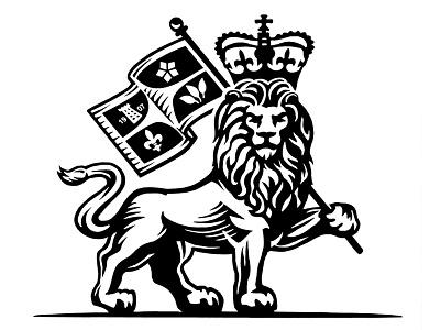 Lion Logo etching logo artwork illustration illustrator graphic design linocut engraving line art woodcuts scratchboard steven noble