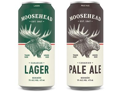 Moosehead Beer etching artwork illustration illustrator graphic design linocut engraving logo woodcuts scratchboard steven noble