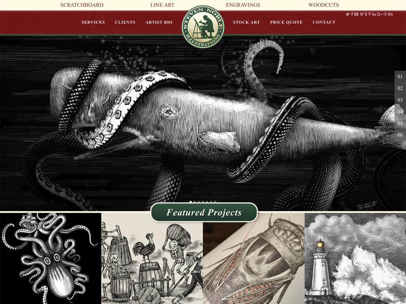 Steven Noble Illustrator Website