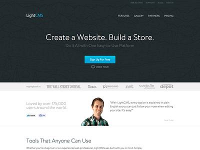LightCMS website