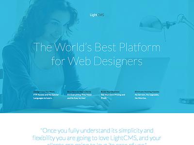 LightCMS Partner Platform website responsive
