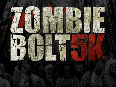 Zombie Bolt 5K logo zombie logo brains