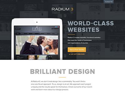 Radium3 Site Design website responsive