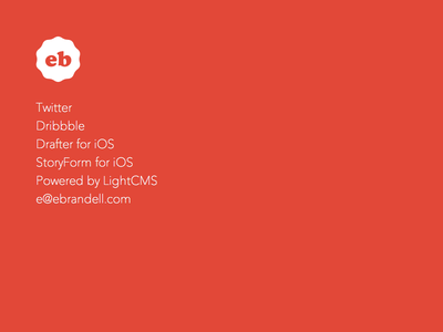 ebrandell.com website simple logo