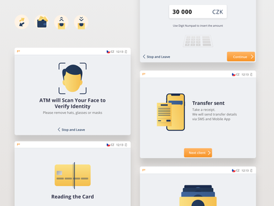 ATM User Interface ux app user interface machinbe banking fintech atm branding ui illustration