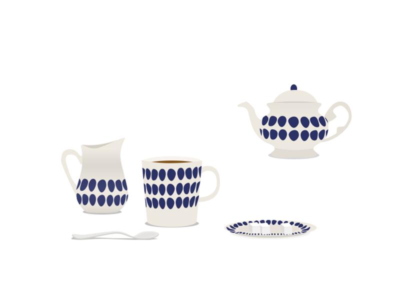 Finnish tableware tea tableware finnish illustration