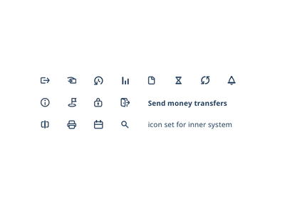Icon set for inner system