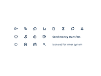 Icon set for inner system