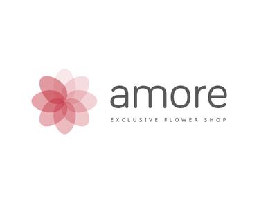 Amore Branding rich niche modern exclusive logo branding flower flower shop amore